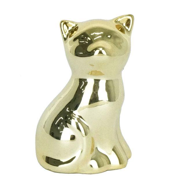 Gato-Sentado-Dourado-